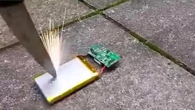 Lithium batteries are dangerous!