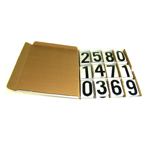 Ensemble numéros autocollants 3 (1/2) Mylar transparent