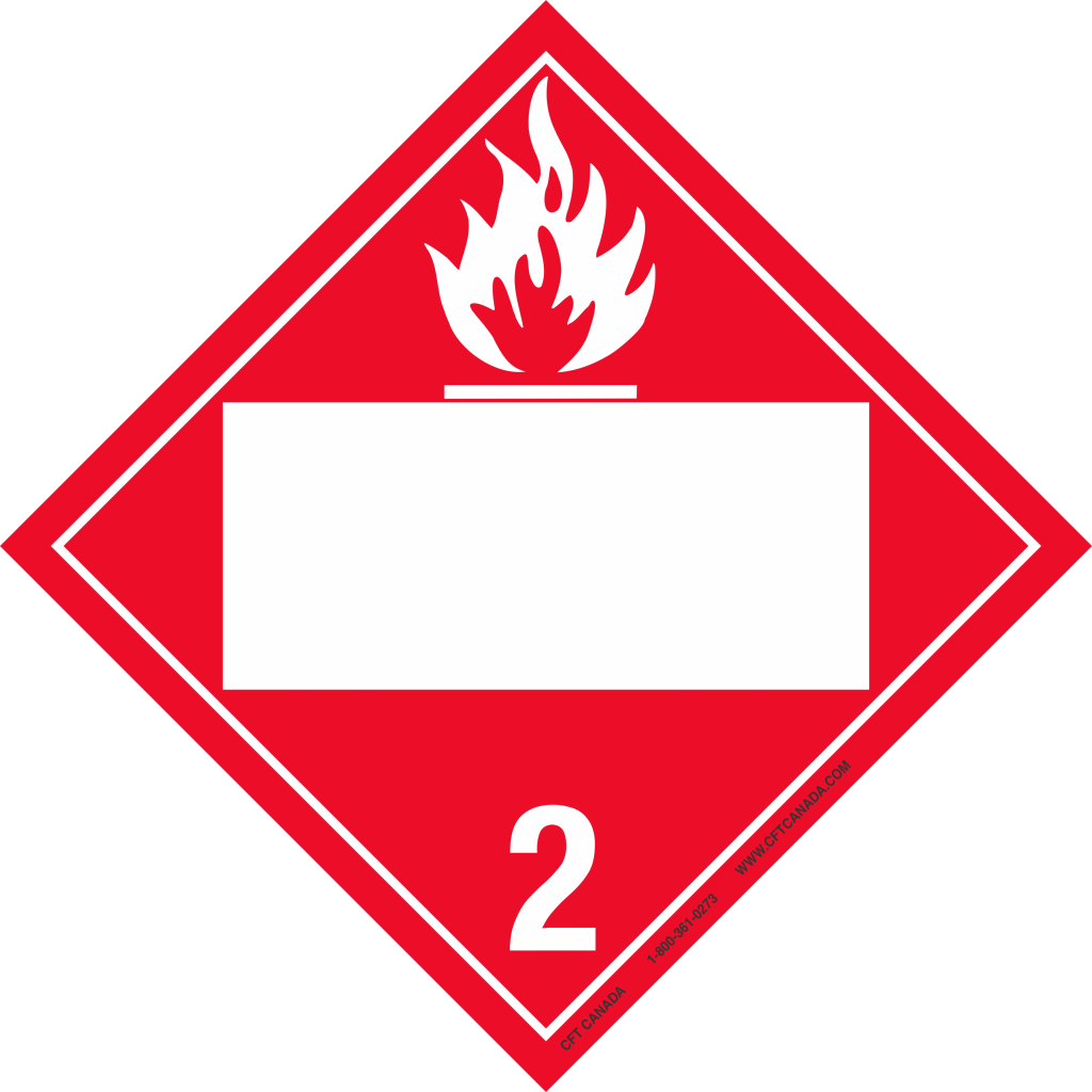 Class 21 International Tdg Placard With Blank Un Box Flammable