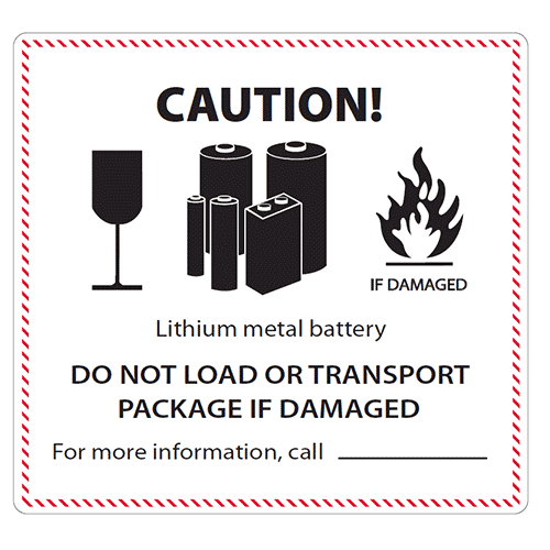Lithium Metal Battery Label Redbul