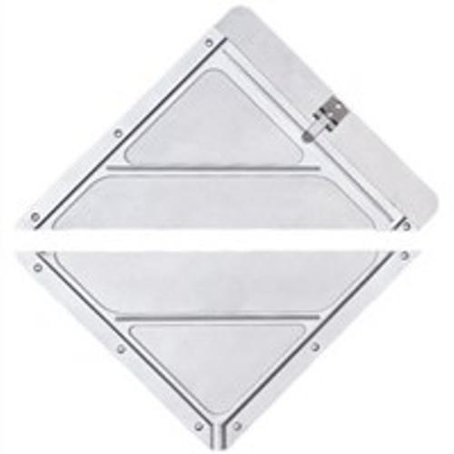 Porte-plaque simple séparé en deux