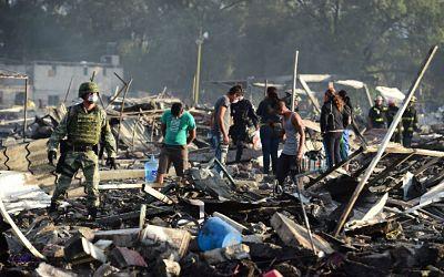 Une explosion de feux d'artifice fait des victimes au Mexique