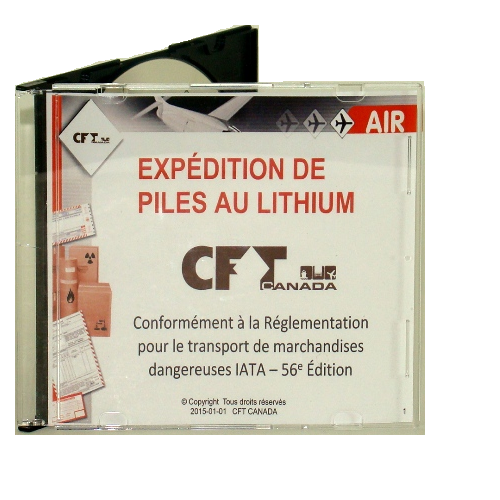CFT Canada's guide to Lithium Batteries CD-ROM