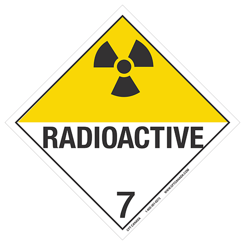 Class 7 TDG International Placard : Radioactive Materials