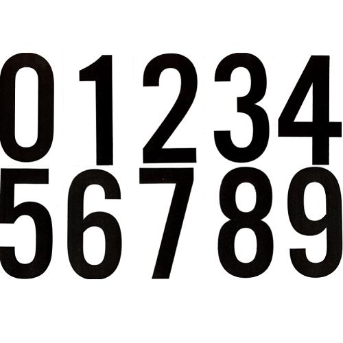 Numéros autocollants 3 (1/2) Mylar transparent