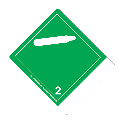 Class 2.2 International TDG Labels with blank tab for proper shipping name – Non-Flammable and Non toxic Gases