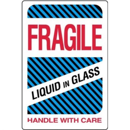 Étiquettes Fragile – liquid in glass