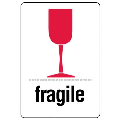 Étiquettes Fragile – coupe rouge