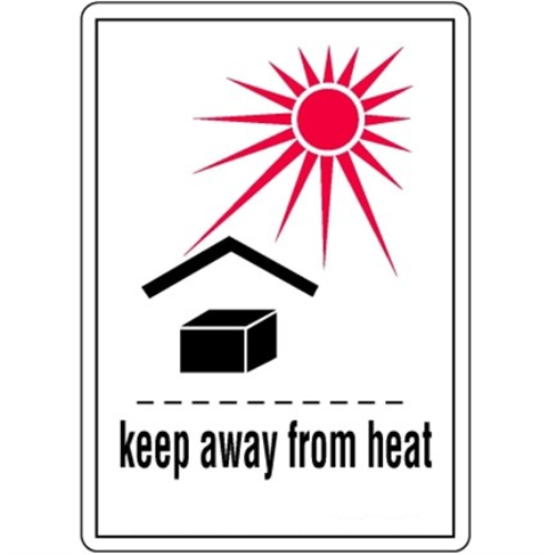 Étiquettes Keep away from heat