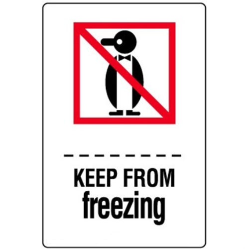 Étiquettes Keep from freezing