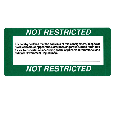 Étiquettes « Not Restricted »