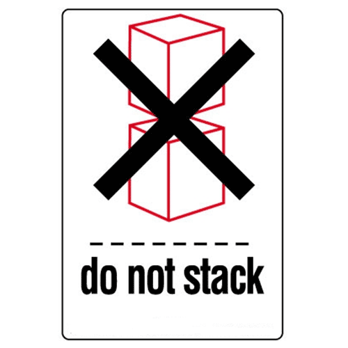 Étiquettes Do not stack