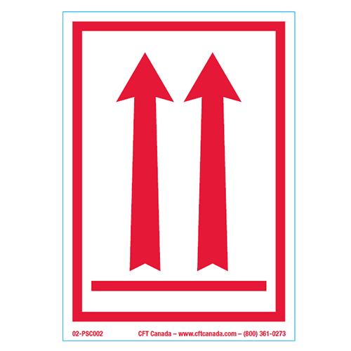 Étiquettes Flèches rouges avec contour