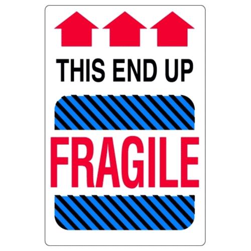 Étiquettes Fragile – this end up