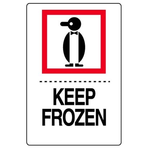 Étiquettes Keep frozen