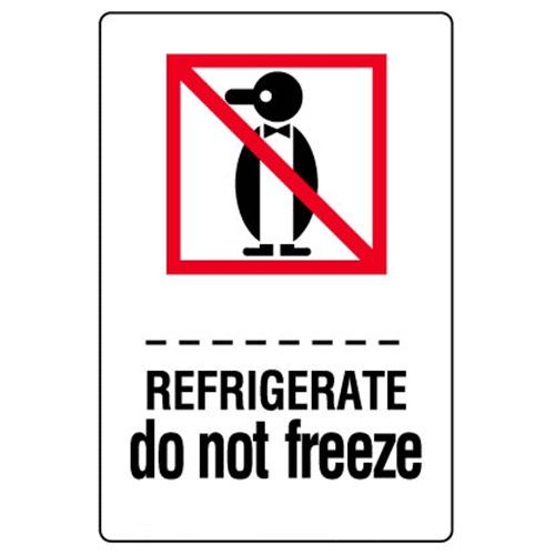 Étiquettes Refrigerate – do not freeze
