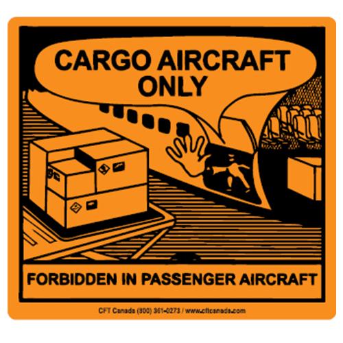 Étiquettes Uniquement sur avion cargo