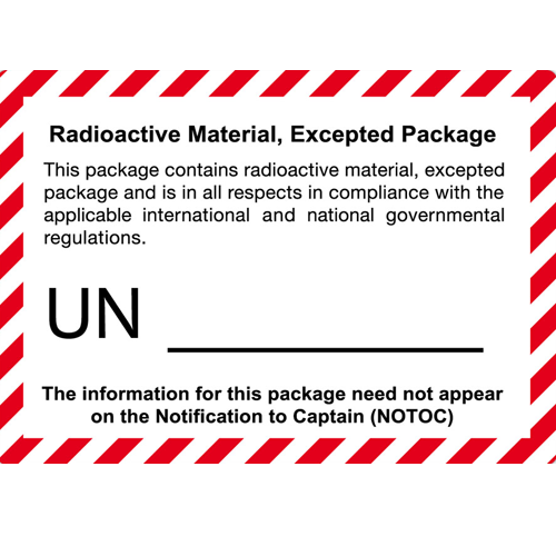 Radioactive material excepted