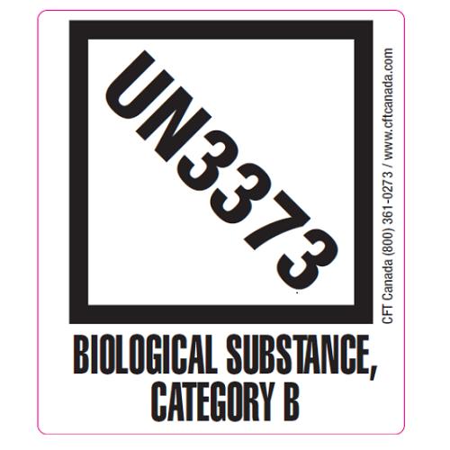 Étiquette UN3373 – Substances biologique Catégorie B