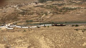 Déraillement d'un train transportant de l'acide sulfurique en Australie
